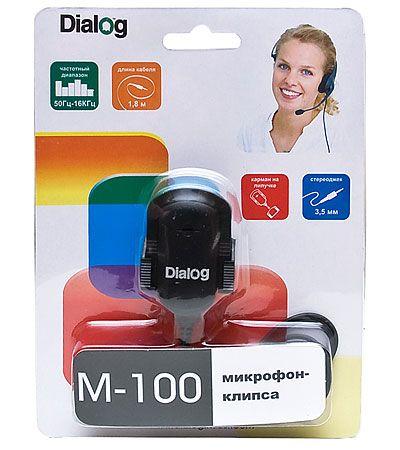 Микрофон ПК Dialog M-100B
