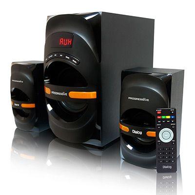 Мультимедийные колонки 2.1 Dialog Progressive AP-210B BLACK - акустические колонки 2.1, 30W+2*15W RMS, Bluetooth, USB+SD reader