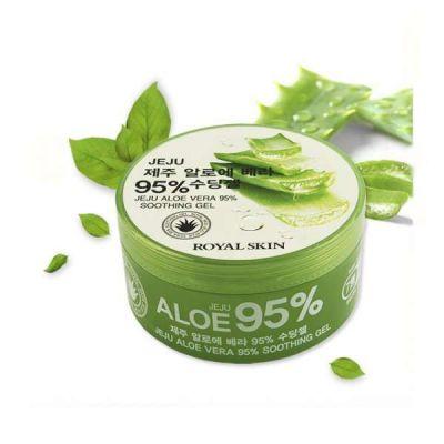 Корейский многофункциональный гель для лица и тела с 95% содержанием Aloe Royal Skin