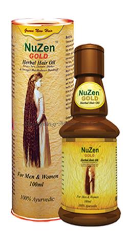 Масло для стимуляции роста волос и лечения облысения Нузен Голд (Nuzen Gold Hair Oil)
