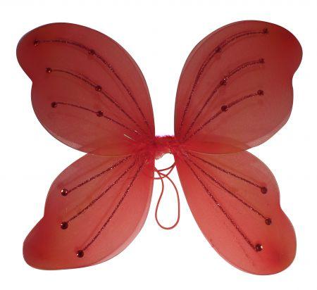 Крылья феи светящиеся красные