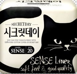 Корейские ультратонкие дышащие органические ежедневные прокладки Secret Day