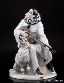 Пьеро с пуделем, Rosenthal, Германия, 1914-16 гг