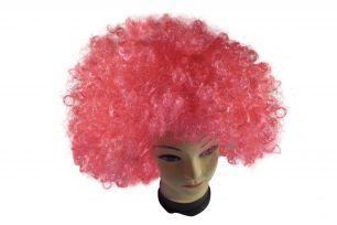Парик клоунский розовый