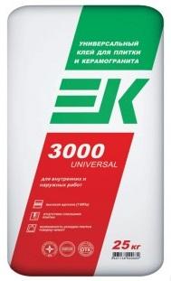 Плиточный клей ЕК 3000 Universal   25кг