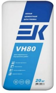 Шпаклевка цементная (белая) EK VH80 (20 кг)