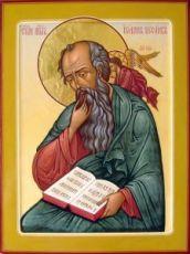 Иоанн Богослов(рукописная икона)