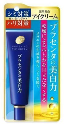 Отбеливающий крем для кожи вокруг глаз Placenta Whitening Eye Cream Meishoku