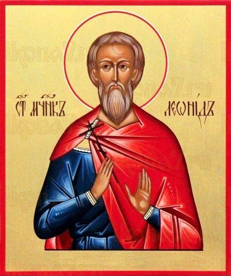 Леонид Коринфский (рукописная икона)