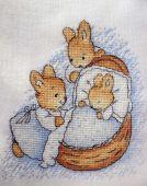 Схема для вышивки крестом Little bunny. Отшив