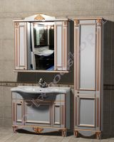 "Мебель в стиле прованс ""Руссильон PROVENCE-100 светлое дерево"" с зеркалом-шкафом"