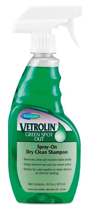 VETROLIN  Green Spot Out. Пятновыводитель спрей, для светлых лошадей.