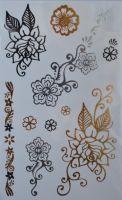Flash tattoo (флэш-тату) для боди-арта MC-J-цветы