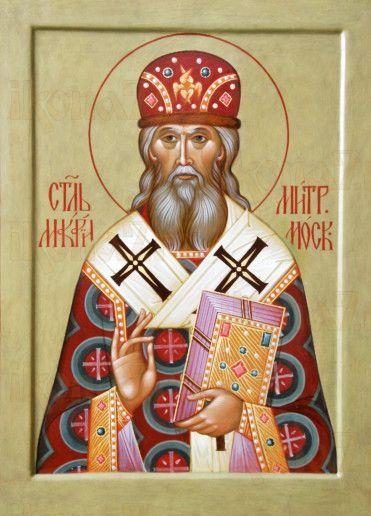 Икона Макарий, митрополит Московский (рукописная)
