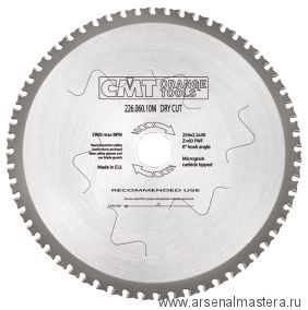 CMT 226.060.10M Пила (диск) по стали 254x30x2,2/1,8 0гр 8гр FWF Z60
