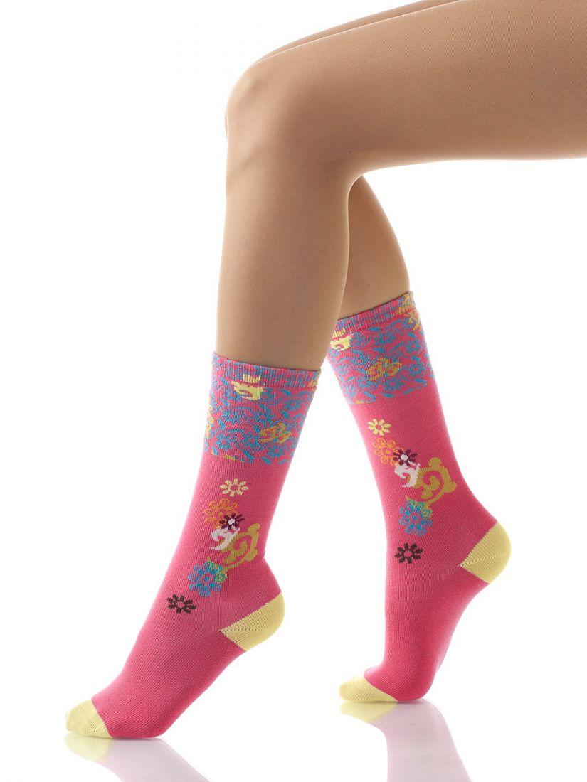 Темно-розовые гольфы для девочки 4-5 лет