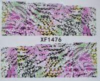 Водная наклейка для дизайна ногтей XF 1476