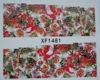 Водная наклейка для дизайна ногтей XF 1481