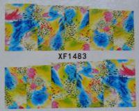 Водная наклейка для дизайна ногтей XF 1483