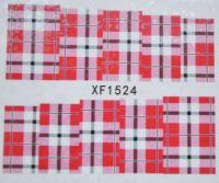Водная наклейка для дизайна ногтей XF 1524