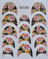 Водная наклейка для дизайна ногтей B 64