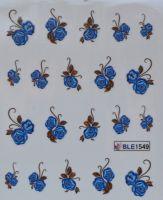 Водная наклейка для дизайна ногтей BLE 1549