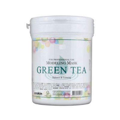 Корейская успокаивающая антиоксидантная альгинатная маска с экстрактом зеленого чая Green Tea Modeling Mask Anskin