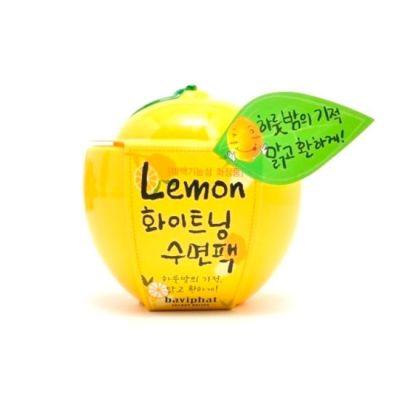 Корейская маска ночная отбеливающая лимон Lemon Whitening Sleeping Pack Baviphat