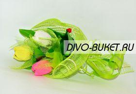 """Букет из конфет №469 """"Три тюльпана"""""""