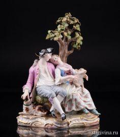 Пара под деревом, Meissen, Германия, вт.пол.19 в