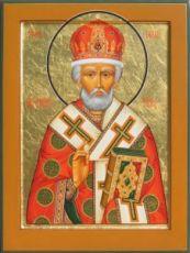 Икона Николай Чудотворец (рукописная)