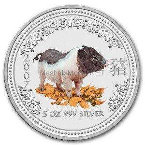 8 долларов 2007 года Австралия. Год свиньи