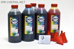 Чернила OCP для принтера и МФУ Canon iP4200 (BKP44, BK797, C133, M122, Y122), картриджи PGI-5, CLI-8 комплект 1000 гр. x 5