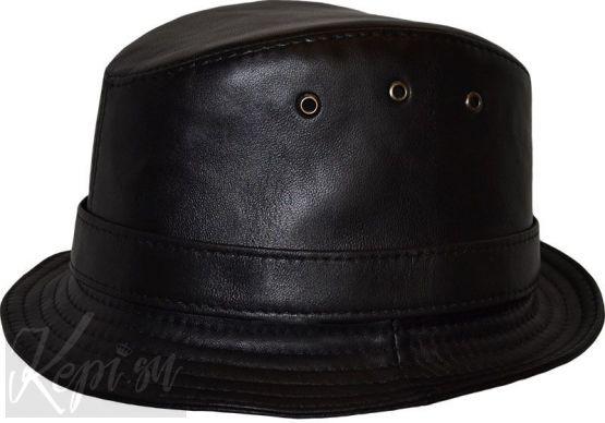 "Шляпа кожаная наппа  ""легенда"""
