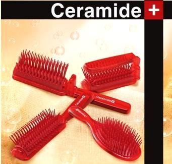 720567 Расческа для увлажнения и смягчения волос с церамидами (складная)