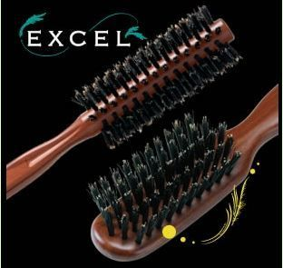 Массажные щетки с натуральной щетиной Vess Excel Mix Roll Brush