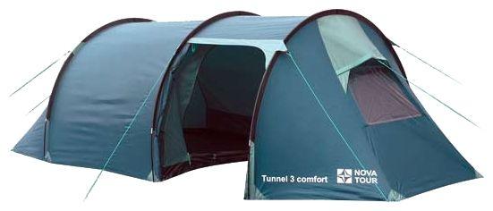 NOVA TOUR ТОННЕЛЬ 3 КОМФОРТ тоннелеобразная палатка