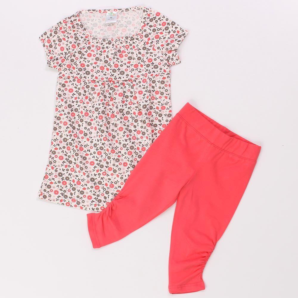 Блузка и розовые бриджи для девочки
