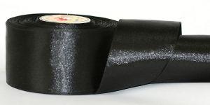 Атласная лента, ширина 12 мм, 32,5 метра (+-0,4м), Арт. АЛ_черный-12
