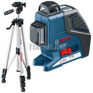 BOSCH GLL 2-80 P + BS 150 + вкладка под L-Boxx - лазерный нивелир