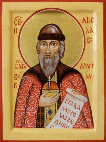 Икона Ярослав Муромский (рукописная)
