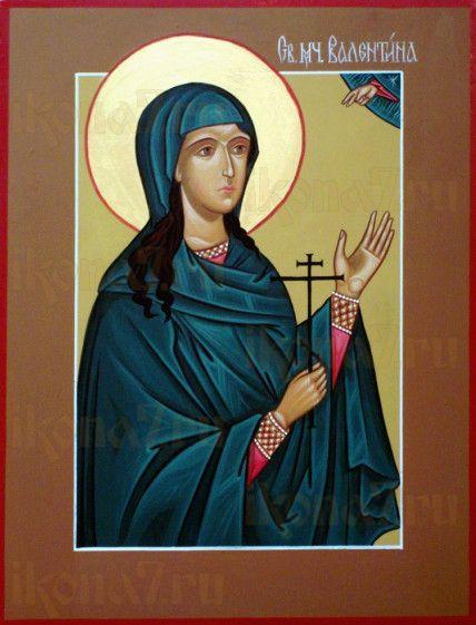 Валентина Кесарийская (рукописная икона)