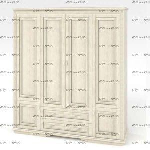 Шкаф 4-х дверный Венециано (Палермо) DreamExpert, 207х66х220
