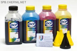 Чернила OCP для принтера HP B010b, B110, 3070A, 5510, 7000 (BK35, C143, M143, Y143) Safe Set, комплект 500 гр. x 4