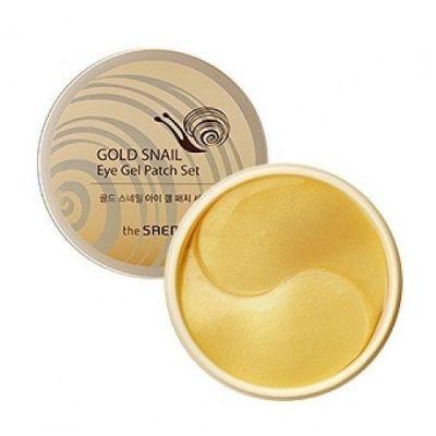 Корейский набор патчей с экстрактом муцина улитки для век 60шт  Gold Snail Eye Gel Patch Set Saem