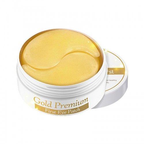 Корейские патчи для глаз с золотом Gold Premium First Eye Patch Secret Key 60шт