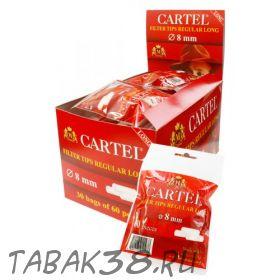 Сигаретные фильтры CARTEL СТАНДАРТ Long 60 шт.(8 мм, удлиненные)