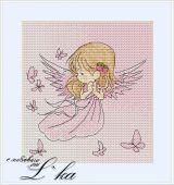 Схема для вышивки крестом Нежные иллюстрации - Ангел