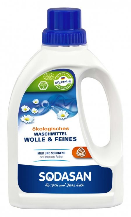 SODASAN Средство-концентрат жидкое для стирки изделий из шерстяных, шелковых и деликатных тканей 750 мл