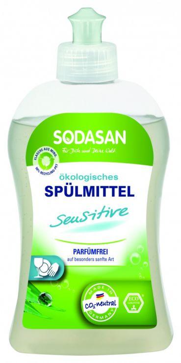 SODASAN Средство жидкое концентрированное для мытья посуды для чувствительной кожи 500 мл